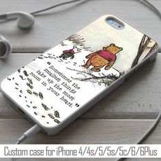 Winnie the pooh quote disney, case for iPhone 4/4s/5/5s/5c/6, Samsung S3/S4/S5