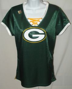 b4da61c16 Green Bay Packers Football Ladies NFL Draft Me Laced Jersey Shirt XL  Packers Baby
