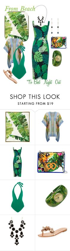 """""""From Beach to Best Night Out!!"""" by mdfletch ❤ liked on Polyvore featuring Barclay Butera, BLANK, Dsquared2, Eres, Natasha Accessories, Sophia Webster, Ippolita and beachtobestnightout"""