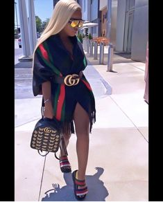 ollow for poppin looks ✨. Gucci Outfits, Dope Outfits, Stylish Outfits, Girl Outfits, Fashion Outfits, Fashion Killa, Look Fashion, Girl Fashion, Womens Fashion