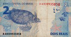 Brazil - Banknote 2 Reais. (reverse)