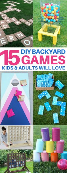 My kids are obsessed with these DIY backyard games! I have to bed them to come inside! summer bbq, yard games, lawn games, diy kid summer activities, diy outdoor games, backyard ideas