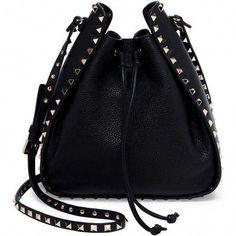 7842a74771c Valentino Large Rockstud Leather Bucket Bag ( 1
