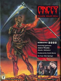 Cancer - Death Shall Rise Heavy Metal, Black Metal, Metal Band Logos, Metal Bands, James Murphy, Extreme Metal, Wallpaper Stickers, Metal Albums, Thrash Metal