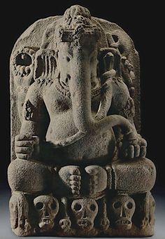 Kapalasana Ganapati. Java 9th century.