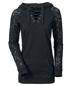 Stylish Lace-Up Women's Hoodie with Long Sleeve