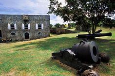 Achevé en 1867, le fort Napoléon servit de pénitencier jusqu'au début du XXe siècle. Les Saintes. Guadeloupe.