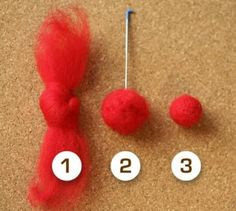 How to make felted balls - this is a great idea.  Never thought of it myself ... gonna do this!