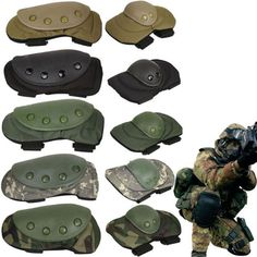 One Set include: 2 knee pads and 2 elbow pads, total and Elbow Protector Pads Set. elbow pads: knee pads: 4 colors for your choice ! Tactical Gloves, Tactical Gear, Tactical Accessories, Chihuahua Mexico, Air Rifle, Military Army, Paintball, Airsoft, Skate