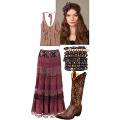 Ideas Cowboy Boats Outfit Spring Boho Chic For 2019 Boho Summer Outfits, Boho Outfits, Spring Outfits, Outfit Summer, Cowboy Boot Outfits, Dresses With Cowboy Boots, Bohemian Mode, Boho Chic, Hippie Chic