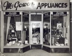 McGowan Appliances, Waterloo, Ontario 1950s Waterloo Ontario, Kitchener Ontario, Hot Tub Cover, School Photography, Shop Around, Twin Cities, Chevrolet Impala, Cambridge, 1950s