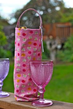 Wine Bottle Bag Tutorial from Prudent Baby