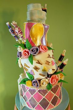Topsy Turvy Candy Cake At H Bake Shop New York NY Cakedecorating
