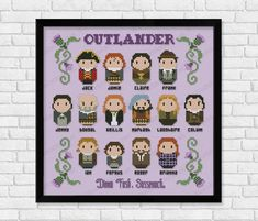 Outlander Cross-Stitch Sampler Pattern by CloudsFactory