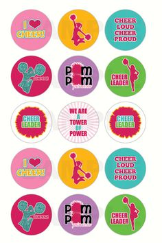 INSTANT DOWNLOAD  Cheerleading Bottle Cap Images  by DigiPrintz  https://www.etsy.com/listing/104907101/instant-download-cheerleading-bottle-cap?ref=shop_home_active_19