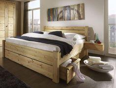 Bettgestell Doppelbett Bettrahmen Bett 180x200 Kiefer massiv holz gelaugt geölt