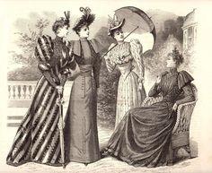 Vintage Fashion Plate LE MONITEUR DE LA MODE Early 1890s #2