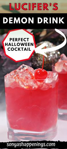 Lucifer's Demon Drink is perfect Halloween Cocktail to serve at your party this year! This mixed drink includes a mixture of rum and wine and tastes wonderful! party cocktail~ Halloween Cocktails, Halloween Party, Alcohol Drink Recipes, Spiced Rum, Ginger Beer, Mixed Drinks, Yummy Drinks, Alcoholic Drinks, October