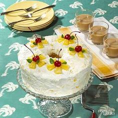 Richer than angel food cake, chiffon cake is just as airy and light and makes such a pretty dessert.