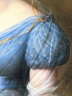 Madame Amelia, by Alexandre-Jean Dubois-Drahonet (French, Historical Costume, Historical Clothing, Detail Art, Blue Aesthetic, Antique Art, Portraits, Oeuvre D'art, Fashion Details, Shades Of Blue
