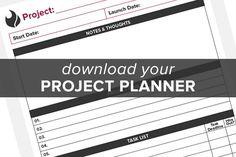 project planner worksheet