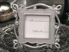 Elegant Silver Place Card Frame Favor