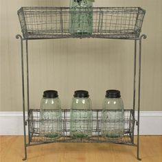 Our Storage Organizers are Wire Rack shelving that make organizing a breeze! Use this wire floor rack to complement your Farmhouse Decor! For more visit, www.decorsteals.com OR www.facebook.com/DecorSteals