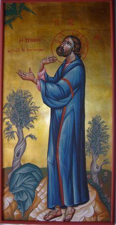 Jesus praying in Gethsemane by Angela Tseliou
