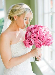 Yves Piaget Rose Bouquet | See this Botanical Garden Wedding on SMP: http://www.StyleMePretty.com/florida-weddings/sarasota/2014/02/10/marie-selby-botanical-gardens-wedding/ Justin DeMutiis Photography