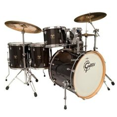Gretsch Drums Catalina Maple CMT-E826P-TE 6-Piece Drum Set Trans Ebony by Gretsch Drums. $1018.98. The popular Gretsch Catalina Maple series includes maple shells with natural interiors and 30-degree edges for full, warm Gretsch tones. Drums are finished in UV lacquer with matching wood bass drum hoops, high quality chrome hardware and drum heads by Evans.