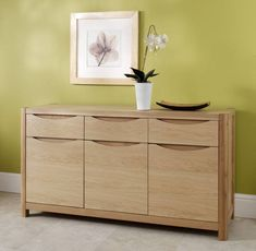 Winsor Stockholm Oak Sideboard Made of Fine quality solid oak and oak veneers in a natural blonde finish. It will add a sense of sophistication and elegance to your room.  #Oak #OakSideboard #NaturalBlondeFinish #AssembledSideboard