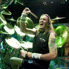 Nicko McBrain - Iron Maiden - ironmaiden.marjantrajkovski.com #ironmaiden #nickomcbrain