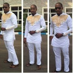 African Men Clothing African Men Fashion Nigerian Men Fashion Attire The listing is for the shirt and pants same color and design as shown in the picture, however you can request different color or th