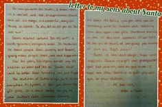 Explaining santa, for older kids. Christmas. My boys were so sad, I had to write a letter. Sorry for the poor image quality. I'll try to post a better one.