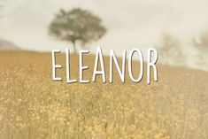 46 Literary Baby Names That'll Make You Want To Have Children; Eleanor & Park by Rainbow Rowell