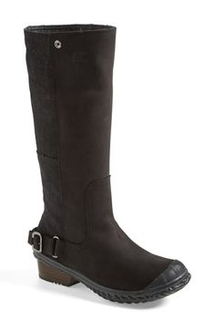 SOREL 'Slim' Waterproof Tall Boot (Women)  Determined to keep my feed dry and warm this winter!!  A tough yet chic tall boot cast in waterproof leather with oiled suede panels and accented with sleek buckle hardware makes an ideal companion for icy or snowy commutes.