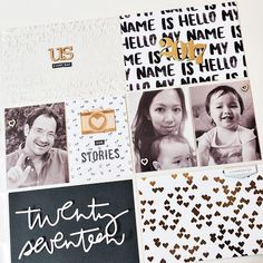 Three+ weeks into January and my 2017 title page for my #projectlife album is complete. I wasn't procrastinating -- I was just waiting for @liztamanaha's awesome twenty-seventeen cut file. 😉