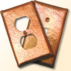 Copper And Gold Foil Light Switch Cover By Secretpagecouture