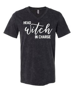 Head Witch in Charge Halloween Tee Halloween Fonts, Halloween Shirt, Funny Phrases, Online Clothing Stores, Best Mom, Online Boutiques, Kids Outfits, Witch, Tees