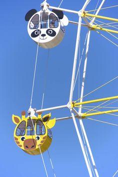 Ferris wheel at Oji Zoo, Kobe, Japan could u imagine loading this Maria? No I want the giraffe hahaha