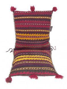 Multi-Color Wool Bilouch Kilim Saddle Bag 52.5in x 22in