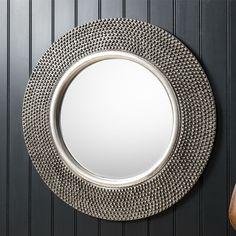Pewter Circular Mirror
