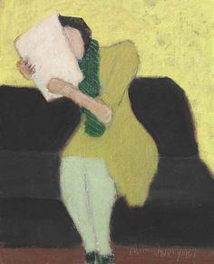 Milton Avery (1885–1965), Seated Figure, 1957, oil on canvasboard, 10x8 in