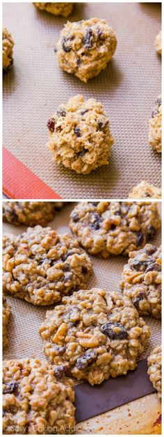 Soft-Baked Oatmeal Raisin Nothing fancy or complicated, just pure homemade goodness! Sweets Recipes, Baking Recipes, Cookie Recipes, Oatmeal Raisin Cookies, Baked Oatmeal, Oatmeal Scotchies, Oatmeal Yogurt, Overnight Oatmeal, Oatmeal Muffins