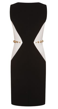 Satin-backed crepe dress