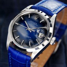 MENS VINTAGE SWISS ROLEX OYSTER PERPETUAL DATE 1500, c.1975 (1035)