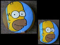 Homer Simpson cake...by moja maličkosť.. :)