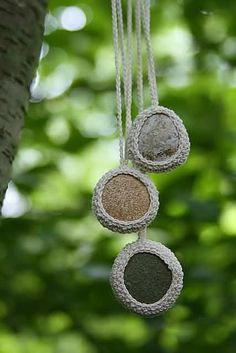 Riverside Stone Crocheted Necklace