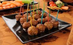 Teriyaki meatballs served cold