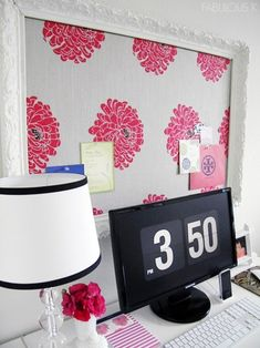 fabric cork board - I think I'll do this for my sewing room. (note:link makes you sign into tumblr to view.  I'm pretty sure I can figure this out on my own. TK)